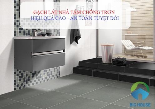 Mẹo chọn gạch ốp lát nhà tắm chống trơn hiệu quả, sang trọng