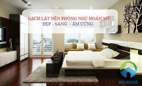 gạch lát nền phòng ngủ hoàn mỹ