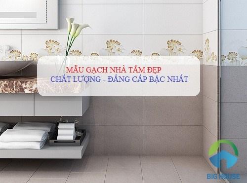 Tổng hợp các mẫu gạch nhà tắm đẹp, giá rẻ nhất năm 2019