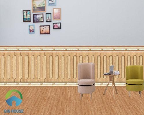 mẫu gạch ốp chân tường phòng khách 2