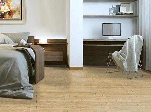 gạch giả gỗ lát nền phòng ngủ hoàn mỹ 9