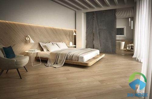 gạch giả gỗ lát nền phòng ngủ hoàn mỹ 2