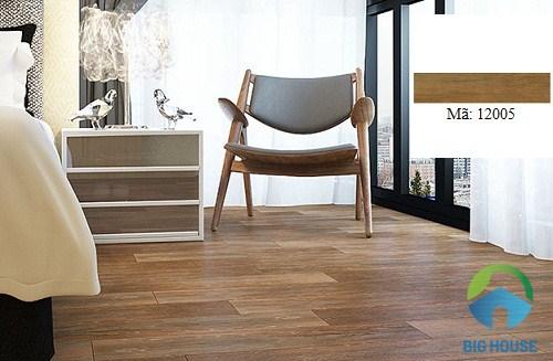 gạch giả gỗ lát nền phòng ngủ hoàn mỹ 6