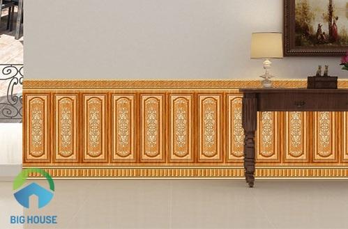 gạch ốp chân tường phòng khách hoàn mỹ 3