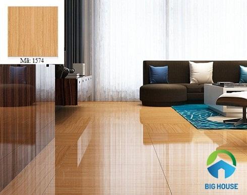gạch vân gỗ lát nền phòng khách hoàn mỹ 2