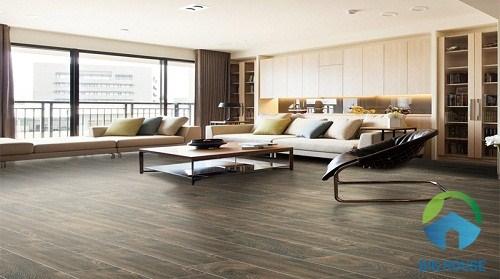 gạch vân gỗ lát nền phòng khách hoàn mỹ 6