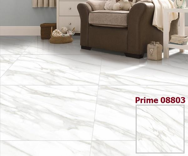 Mẫu gạch lát nền Prime 08803 vân đá trắng sang trọng