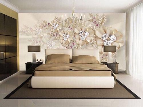 Gạch ốp 3D cho phòng ngủ