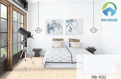 Mẫu gạch ốp tường phòng ngủ trắng 4022