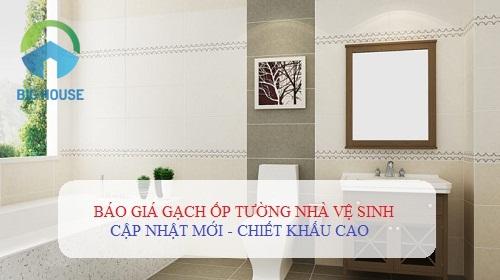 {CẬP NHẬT} Báo giá gạch ốp tường nhà vệ sinh theo từng diện tích