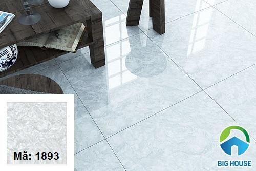Mẫu gạch Hoàn Mỹ 80x80 mã 1893 vân đá trắng xám
