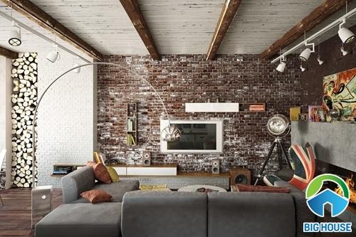 cách ốp gạch tường phòng khách 16