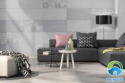NGUYÊN TẮC phối màu gạch ốp tường phòng khách CHUẨN NHẤT