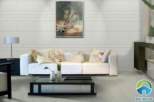 Có nên ốp gạch tường phòng khách không? Giải đáp từ chuyên gia