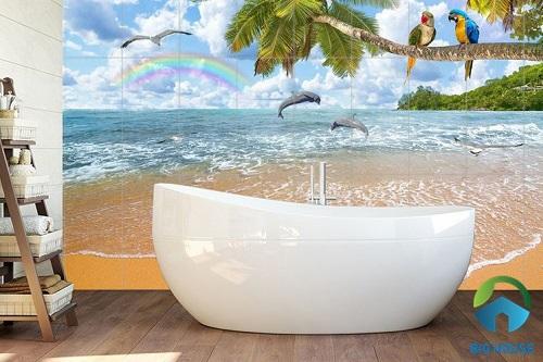 Thay giao diện phòng tắm với loạt gạch ốp nhà vệ sinh 3D SIÊU HOT