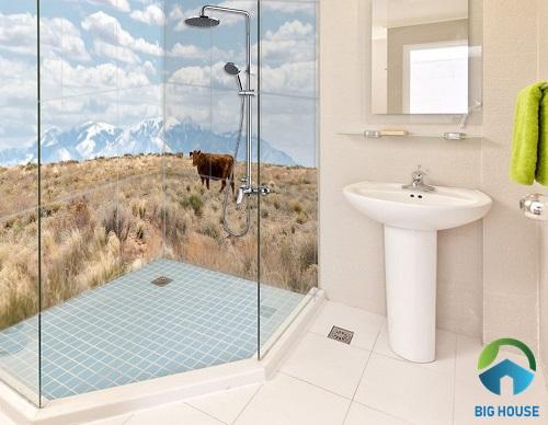 gạch 3d ốp tường nhà tắm