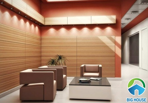 Quy tắc 4 NÊN khi dùng gạch ốp tường phòng khách giả gỗ, vân gỗ
