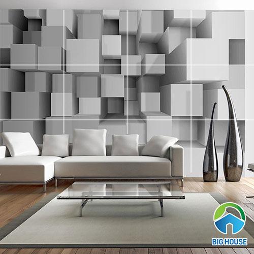 giá tranh gạch 3d ốp tường phòng khách