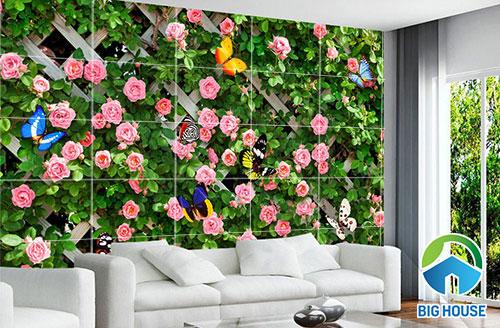 mẫu tranh gạch ốp tường 3d