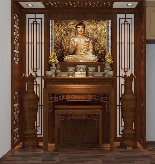 Gạch tranh 3D tượng Phật đẹp mắt cho phòng thờ