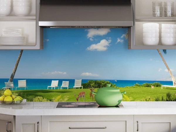 Mẫu gạch tranh 3D ốp nhà bếp đẹp mắt