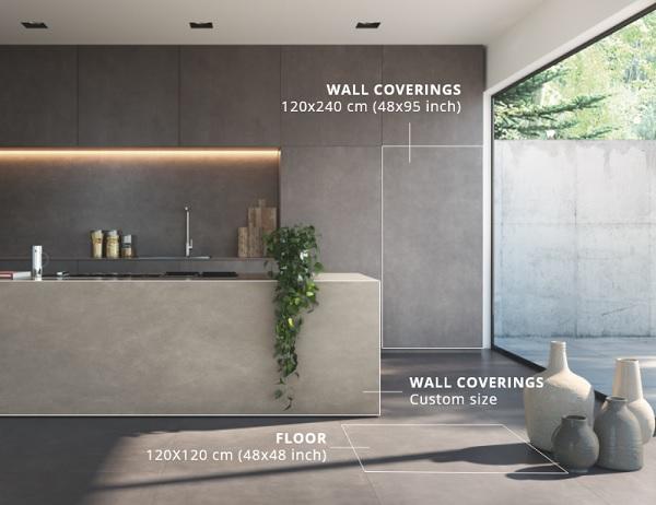 Gạch ốp tường big slab được dùng cho những không gian sang trọng
